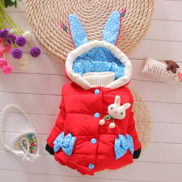 Child Winter Warm Princess Hoodie Coat children outerwear Jacket baby winter baby girls jacket thick children coat infant toddler clothing