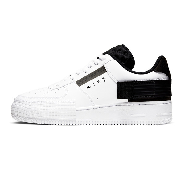 Compre 2020 Nike Air Force 1 React Type N354 Af1 Shadow Forces Hombres  Mujeres Zapatos Para Correr Triple Blanco Gris Fog Sail Gum Light Bone  Hombres ...