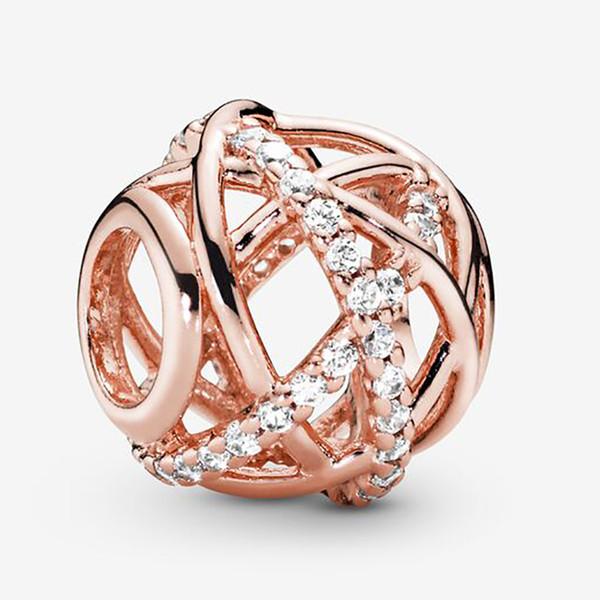 Fit Pandora Bracelet Charm Sparkling & Polished Lines Style Charms Beads Bracelets 925 Silver Bangle Gift DIY Jewelry With Original LOGO