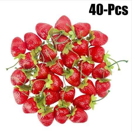 Nouveau Fraises artificielles Réalistes Faux Fruits Fruits Décoratifs Fruits Pour Partie Cuisine Bureau Décor