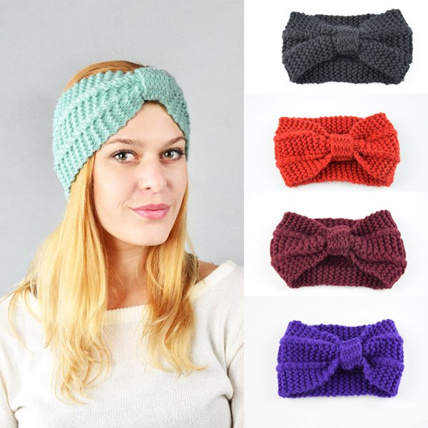 Fashion Warmer Hair Band Wool Knitted Hairband Hand-Woven Headband Autumn Winter Women Lady Hair Accessories Support FBA Drop Shipping M25F