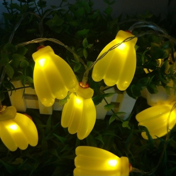Novelty Fruits Decoration LED String Light 1.5M 10leds Battery Operated Holiday Lighting Banana Strawberry Grapes Lamp