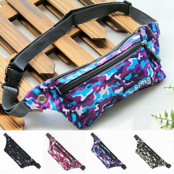 1pc women waist packs camo fanny pack bum bag waist belt pouch travel sport holiday money wallet new sportwear bags traveling thumbnail