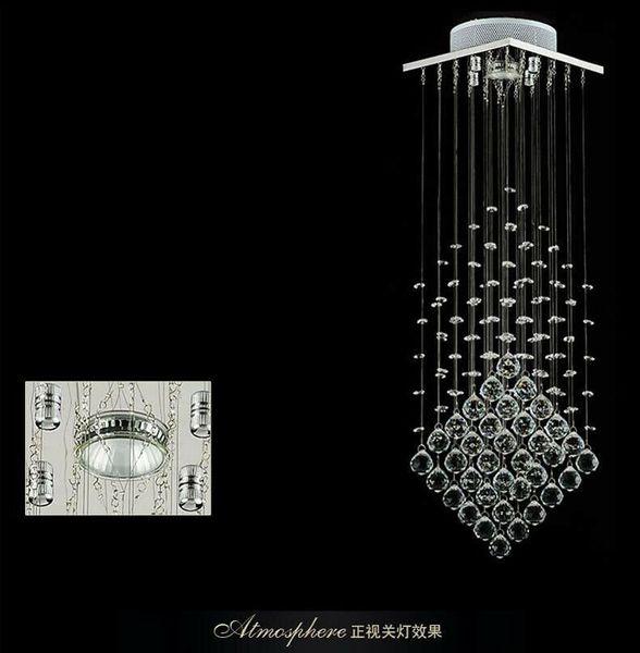 New modern 3 brightness LED K9 transparent crystal chrome ceiling lamp chandelier lighting