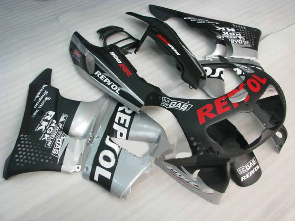 HONDA CBR900RR için ABS gümüş siyah Fairing kiti 893 96 97 CBR 900RR 1996 1997 CBR 900 RR Motosiklet Marangozluğu set