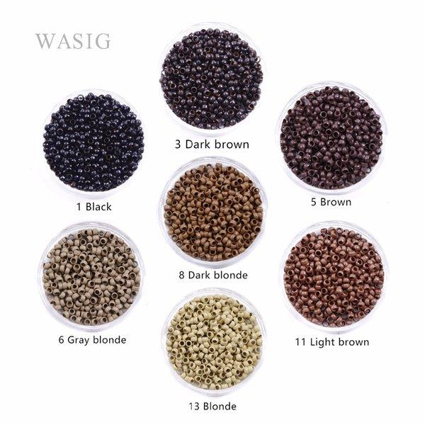 Волосы Инструменты Аксессуары Ссылка, Кольца трубки 1000pcs 2.5mm микро нано кольцо кольца для наращивания волос 3 # темно-коричневого цвета