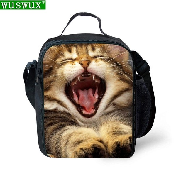 New Fashion Animal Printing Children Lunch Thermal Insulated Kids Casual Travel Cold Drink Thermo Food Picnic Bag C19021301