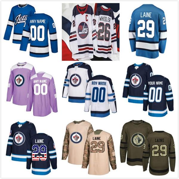 sports shoes 600d6 cabfc 2019 Third Winnipeg Jets Custom 26 Patrik Laine 2019 New HERITAGE CLASSIC  26 Blake Wheeler 33 Dustin Byfuglien 55 Mark Scheifele Hockey Jerseys From  ...