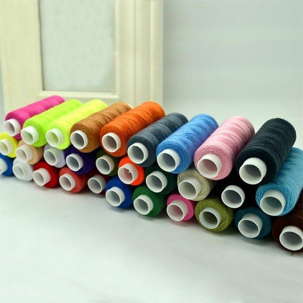 30pcs colorido libre del envío 250 yardas de hilo de alta calidad máquina de bordar Suministros Kit de costura DIY Hilo Hilo de coser