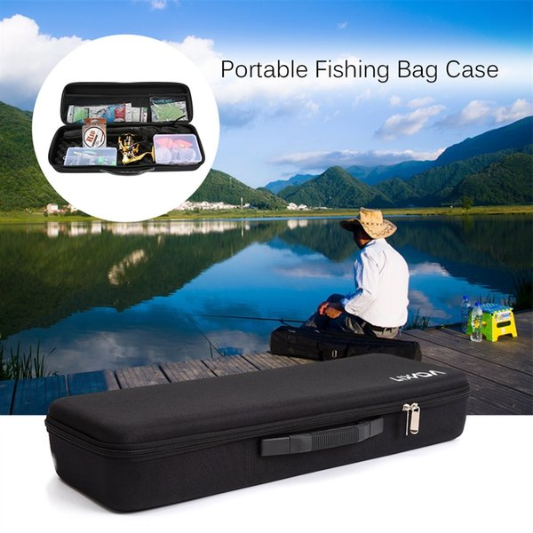 Lixada Portable Fishing Bag Shockproof Fishing Rod and Reel Carry Bag Pole Storage For Case Rod Reel #547948