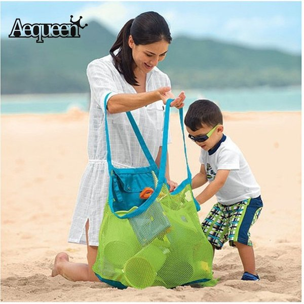 acking organizers AEQUEEN Summer Mesh Beach Bag For Mom Kids Storage Package Travel Parts Folded Totes Girls Boy Packing Organizers Large...