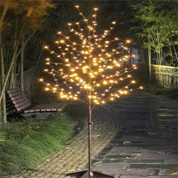 1,5M lampe LED mariage blanc chaud tronc d'arbre de lumière fleur de cerisier paysage Luminaria éclairage extérieur nouvelle année imperméable à l'eau
