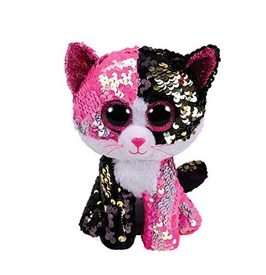 15CM Hot Sale Ty Beanie Boos Big Eyes white sequin Unicorn Lola Dog Lion Bat Alpaca Plush Toy Doll Stuffed Animal Plush Kid Toy