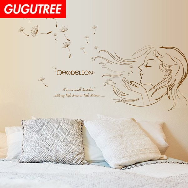 Decorate Home belle girl letter cartoon art wall sticker decoration Decals mural painting Removable Decor Wallpaper G-2386