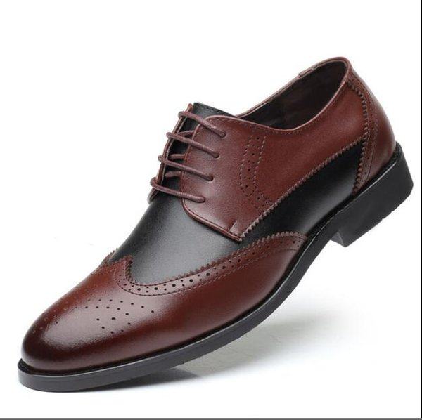 Vender como pan caliente Moda aumento de la altura de los hombres zapatos de los planos zapatos de boda transpirable zapatos planos vestido de los hombres de negocios Hombre Pisos punta estrecha