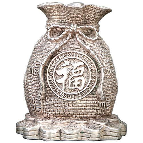 Antiguidades Coleção Antique Pure Copper Lucky Fortune antigo Mealheiro Artesanato Decoração