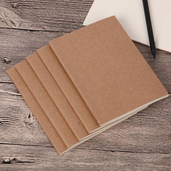 rindleder papier notizblock leere notizblöcke buch vintage weiche copybook tägliche notizen Kraft abdeckung journal notebooks büro schulbuch MMA1442