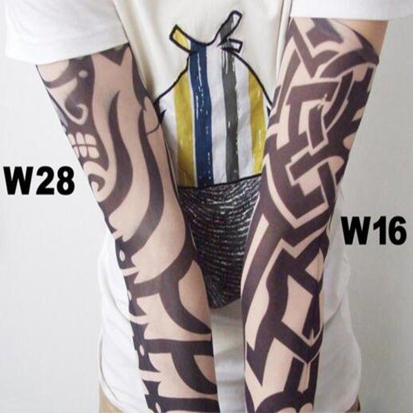 Men Tattoo Sleeves Kit Elastic Nylon Arm Warmers Fake Tattoo Arm Sleeve Unisex Accessories