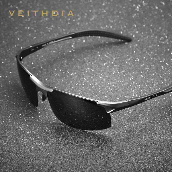 Veithdia Diseñador de marca de aluminio para hombre Gafas de sol polarizadas Gafas de sol Accesorios para hombres Gafas de Sol Masculino 6518 C19022501
