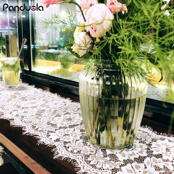 2019 Elegant White Lace Table Runner 36*300cm Wedding Table Decorations For Country Wedding Birthday Party Events