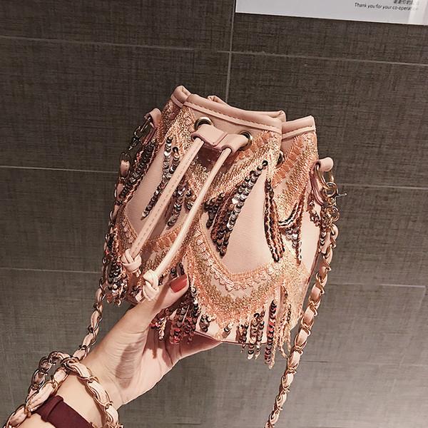 Auf Rabatt! Mode Frauen Dame Taschen Umhängetaschen Cross Body Qualität String Designer Quaste Ketten Eimer Totes Freies schnelles Verschiffen