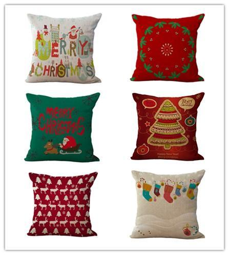Federa Merry Christmas 18 x 18 pollici Peach skinWinter copertura del cuscino vacanze alberi di Natale per la casa Deco