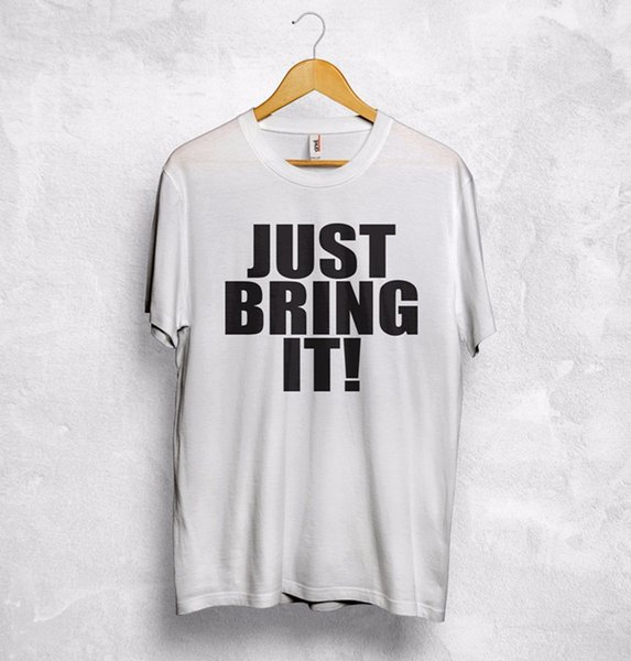 T Shirt Wrestling Tshirt Top Mens JUST BRING IT