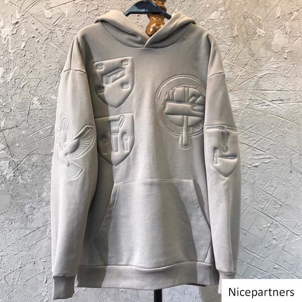 19FW bordado 3D hoodies camisolas das mulheres dos homens Casual Suéter Moda Primavera Outono Cotton Inverno Long Sleeve Hoodie HFYMWY263