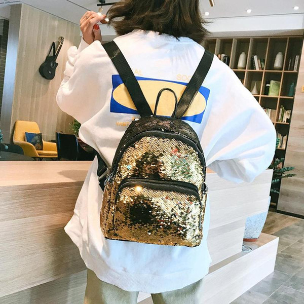 New Backpack Fashion Girl Sequins School Bags Preppy Style Large Capacity Backpack Student Travel Women Shoulder Bag For Ladies