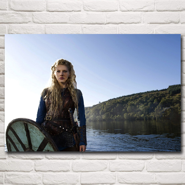 Vikings TV Series Art Silk Fabric Poster Print Home Wall Decor Pictures 12x18 16X24 20x30 24x36 Inches figure poster painting