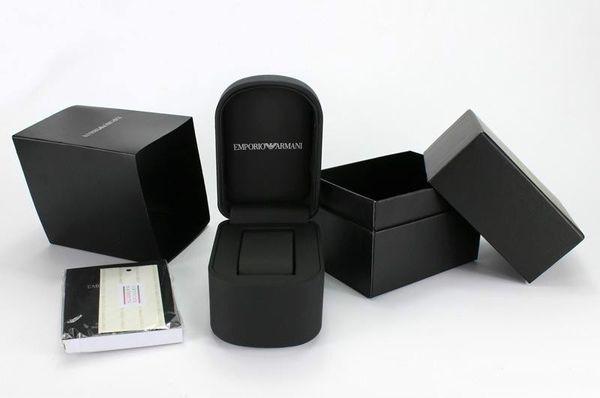 Free Shipping black Watch Men Women Luxury Watches Box manual ar Boxs Classic AR2447 AR2432 AR2433 AR2473 AR2471