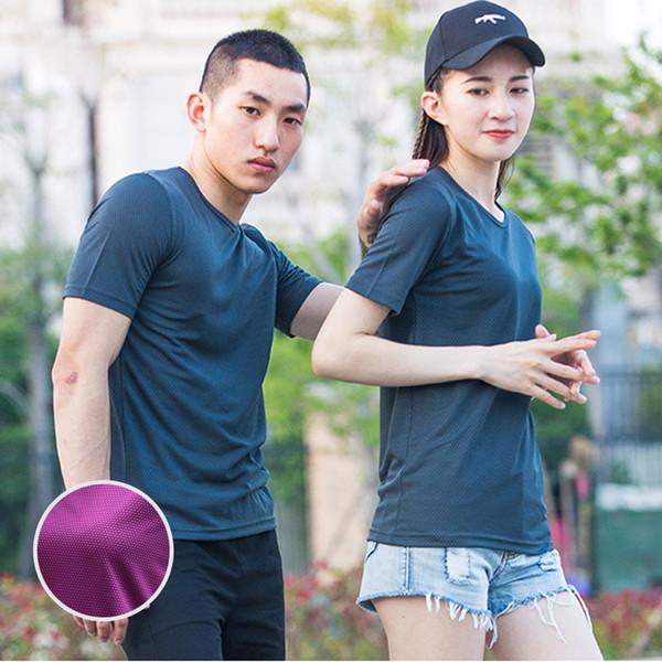 XS-5XL Fast Dry T shirts Men Women Short Male Female Fitness T-Shirts Summer Breathable Hiking Couple Sweat-shirts Man Plus Size