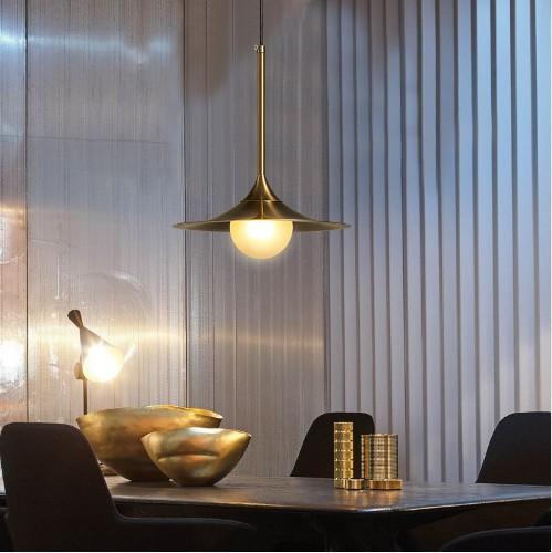 Single Head Modern Iron Glass Lampshade G9 LED Pendant Lamp Nordic Living Room Hanging Lamp Bedroom Study LED Light Fixtures LLFA