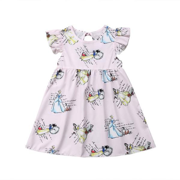 Pudcoco Cute Newborn Kids Baby Girls Princess Fairies Pageant Party Gown Summer Tutu Dress Sundress 2-7Y