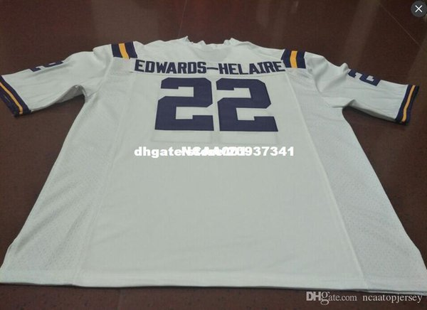 Cheap men #22 Top high quality Purple White Clyde Edwards-Helaire LSU Tigers Alumni College Jersey or custom any name or number jersey