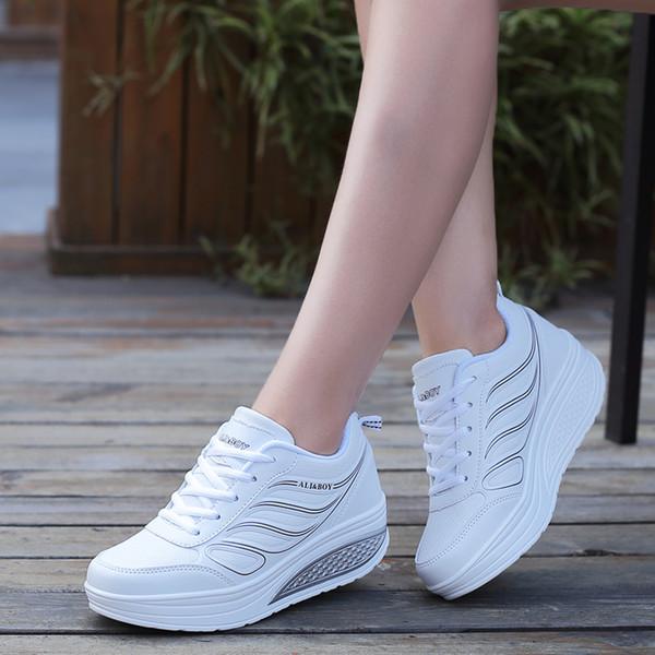 Großhandel Fitness Damen Sneakers Platform Toning Wedge Leichte Sportschuhe Für Damen Swing Shoes Breathable Slimming Von Brand_shoes03, $45.5 Auf