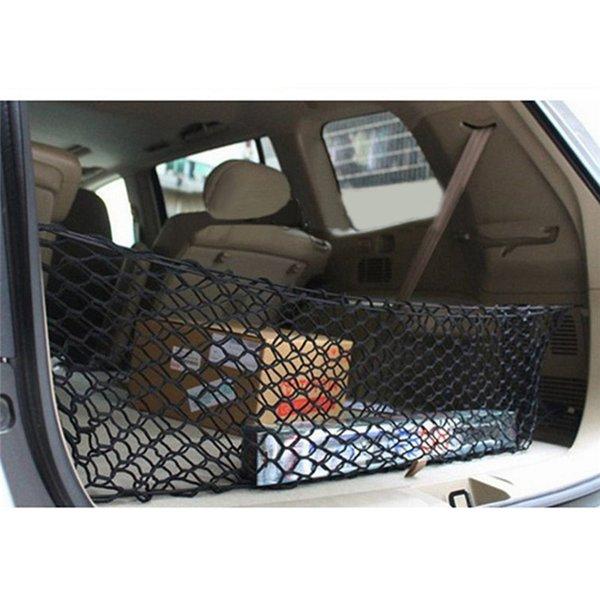 Holder Black Car Trunk Cargo posteriore Organizzatore immagazzinaggio rete elastica Hammock della maglia con 4 gancio facile da installare Car Styling Accessori