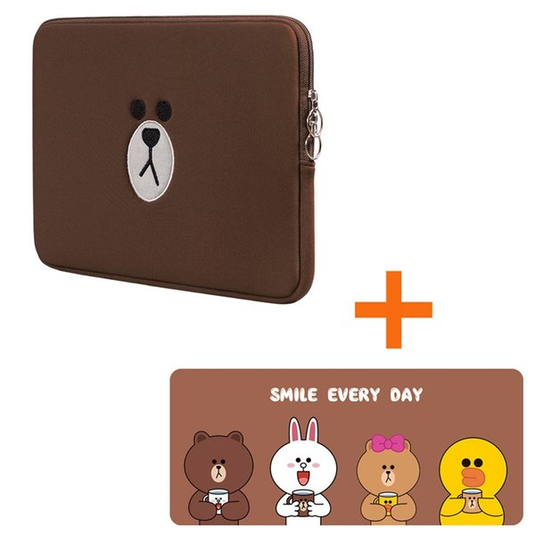 Nuevo Brown Bear Bag Mouse Pad 11 13 15.6 pulgadas para Macbook Air Pro 11 13 15 Laptop Bag Tablet Case Computer Sleeve Computer Pocket