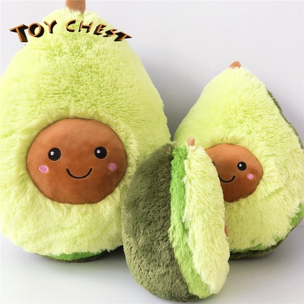 TOY CHEST 20CM Cute And Creative Plush Avocado Pillow Toy Fruit Doll para niños Envío gratis