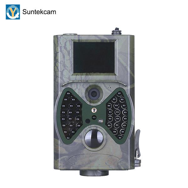Telecamere di caccia con telecamere per riprese di sentieri Suntekcam Hc-300a 12mp 1080p Foto di trappole per osservazioni fotografiche Ip54 impermeabile 32 gb Trail Scouting Cam T190705