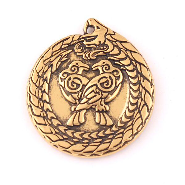 Vintage Dragon with Raven Pendant Viking Nordic Totem Animal Amulet Collana Braceclet Accessori fai da te