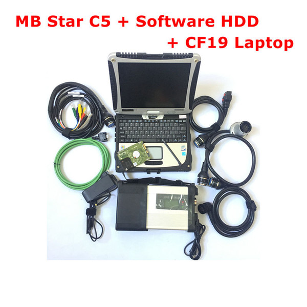2019.03 MB STAR C5 with full Software hard drive 500GB HDD SD C5 installed well in CF19 Laptop Toughbook Ready to work free ship