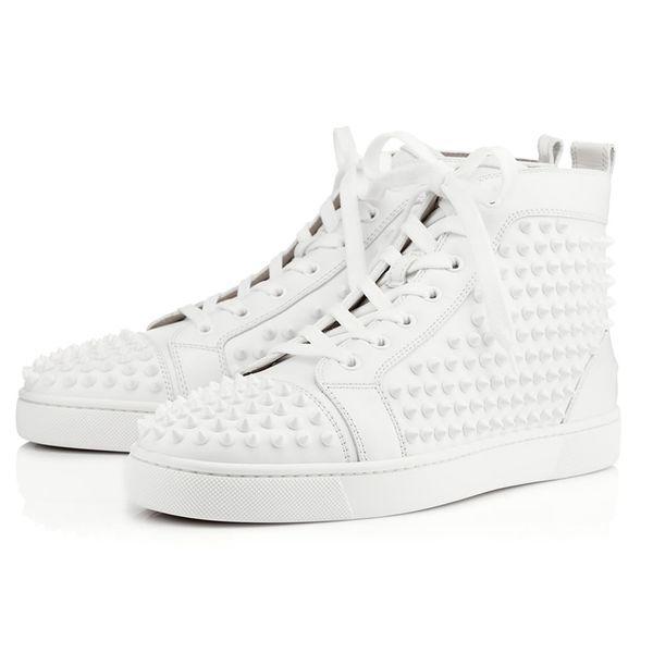 Hot Designer de moda de luxo Red Studded Spikes Flats sapatos Para As Mulheres Dos Homens amantes da festa de glitter preto casual Sneakers 7sdgg