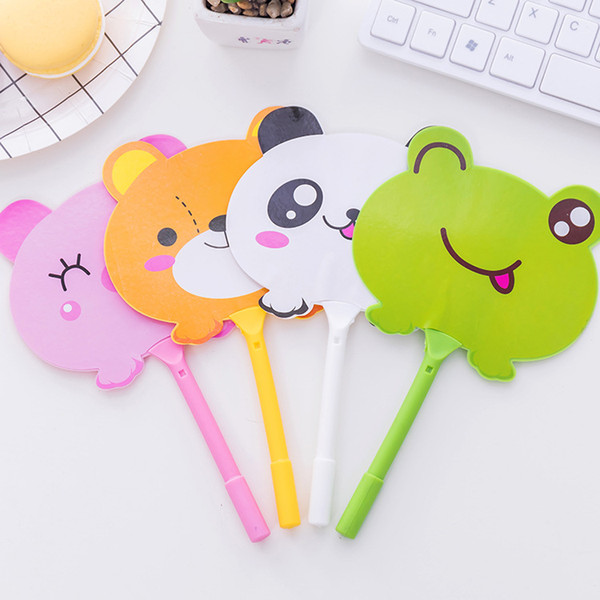 2 pcs/lot Cartoon Animal Fan shape Ballpoint Pen Cute Unicorn Panda Ball Pens For Kids gift school Writing supplies escolar