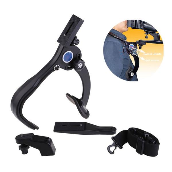 Kamera Stabilisator Freisprecheinrichtung Kamera Schulterstützpolster Stabilisator 5 KG Max. Ladekapazität für Camcorder Video DSLR