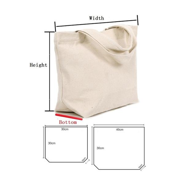 2 Размер белый / черный пустой узор холст сумки Эко многоразовые Складная сумка Сумка Сумка хлопок сумка LX1537