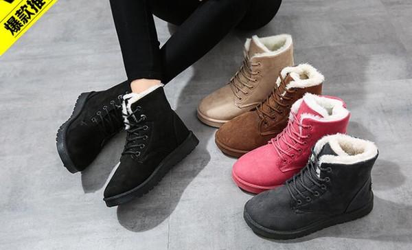 Casual Plat 2019 Chaussures Mode Chaudes Femmes Bottines Mignonnes Chaudes Acheter De Chaussures De De Bottes De D'hiver Neige Talon Bottes Femmes b7fgI6yvY