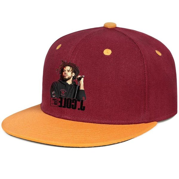 J Cole 4 Your Eyez Only for men and women flat brim hats burgundy snapback cool kids hats sports make your own custom your own custom cute