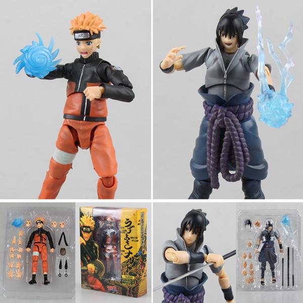 Bon Craft PVC Anime mobile Naruto Action Figure Sasuke Kakashi Assemblez moulage Joints Modèle Replaceable Toy Cadeaux LY191210