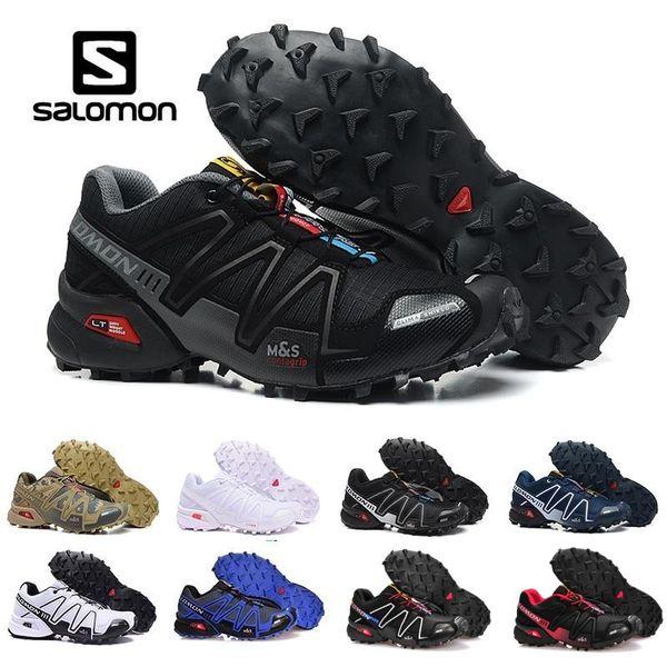 2019 Salomon Speed cross 3 CS III Running shoes Black Silver red Pink blue men Outdoor SpeedCross 3s Hiking mens sports sneakers 40-46